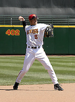 April 11, 2004:  Shortstop Jason Bartlett of the Rochester Red Wings, Triple-A International League affiliate of the Minnesota Twins, during a game at Frontier Field in Rochester, NY.  Photo by:  Mike Janes/Four Seam Images