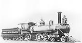 Engineer's-side view of engine #166 at Baldwin Locomotive Plant.<br /> D&amp;RG  Philadelphia, PA  Taken by , Baldwin Locomotive Works - 1883