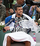 May 24, 2016:  A very cold Jo-Wilfried Tsonga (FRA) defeated Jan-Lennard StrufF (GER) 6-3 in the first set at Roland Garros being played at Stade Roland Garros in Paris, .  ©Leslie Billman/Tennisclix/CSM