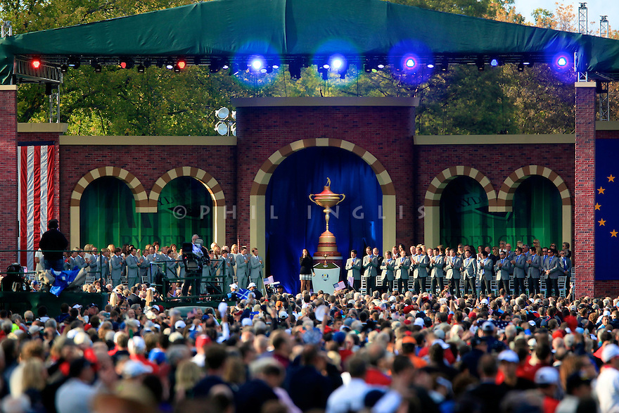 Main stage general view during the opening ceremony of the 39th Ryder Cup matches, Medinah Country Club, Chicago, Illinois, USA.  28-30 September 2012 (Picture Credit / Phil Inglis)
