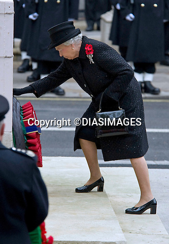 "THE QUEEN AT REMEMBRANCE SERVICE.Prince Philip, Prince Charles, Prince Andrew Prince Edward and Princess Anne joined the Queen at the Cenotaph, London for the annual Service of Remembrance_14/11/2010.Mandatory Photo Credit: ©Dias/DIASIMAGES..**ALL FEES PAYABLE TO: ""NEWSPIX INTERNATIONAL""**..PHOTO CREDIT MANDATORY!!: DIASIMAGES(Failure to credit will incur a surcharge of 100% of reproduction fees)..IMMEDIATE CONFIRMATION OF USAGE REQUIRED:.DiasImages, 31a Chinnery Hill, Bishop's Stortford, ENGLAND CM23 3PS.Tel:+441279 324672  ; Fax: +441279656877.Mobile:  0777568 1153.e-mail: info@diasimages.com"