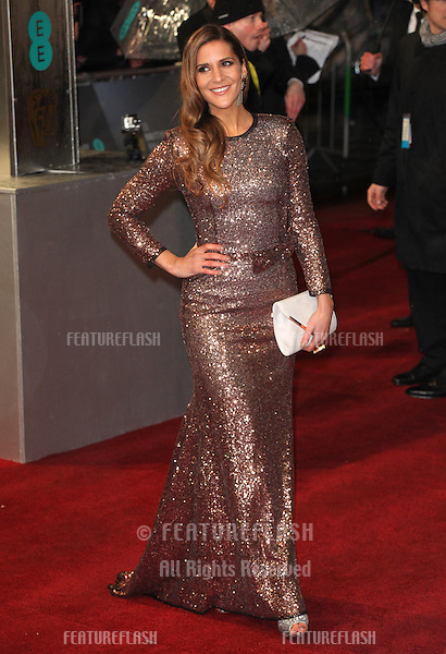 Amanda Byram arriving for the 2013 British Academy Film Awards, at the Royal Opera House, London. 10/02/2013 Picture by: Alexandra Glen / Featureflash