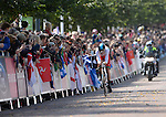Wales' Geraint Thomas crosses the finish line<br /> <br /> Photographer Chris Vaughan/Sportingwales<br /> <br /> 20th Commonwealth Games - Day 8 - Thursday 31st July 2014 - Cycling - time trial - Glasgow - UK