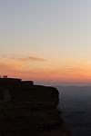 Israel, Negev, Sunrise in Ramon Crater