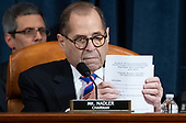 United States Representative Jerrold Nadler (Democrat of New York), Chairman, US House Judiciary Committee, speaks during a House Judiciary Committee hearing on the impeachment of US President Donald Trump on Capitol Hill in Washington, DC, December 4, 2019.<br /> Credit: Saul Loeb / Pool via CNP
