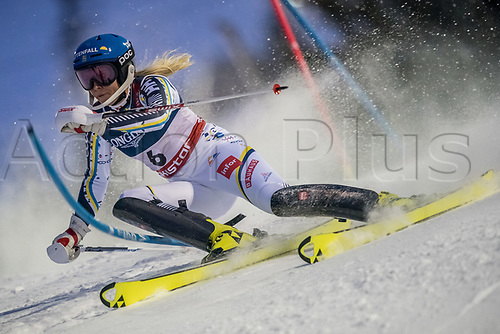 8th February 2019, Are, Sweden; Alpine skiing: Combination, ladies: Lisa Hoernblad from Sweden on the slalom course.