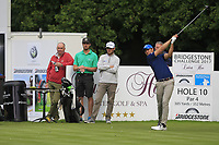Andrea Pavan (ITA) on the 10th tee during Round 1 of the Bridgestone Challenge 2017 at the Luton Hoo Hotel Golf &amp; Spa, Luton, Bedfordshire, England. 07/09/2017<br /> Picture: Golffile | Thos Caffrey<br /> <br /> <br /> All photo usage must carry mandatory copyright credit     (&copy; Golffile | Thos Caffrey)