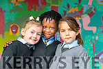 Starting school at St. John's Parochial School, Ashe Street, Tralee were junior infants, l-r: Lucy Smith, Evidence Nann Nyarko Eminil and Katrina Bielecka.