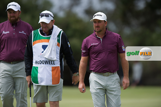 Graeme McDowell (NIR), Shane Lowry (IRL) during the ISPS Handa World Cup of Golf, from Kingston heath Golf Club, Melbourne Australia. 24/11/2016<br /> Picture: Golffile | Anthony Powter<br /> <br /> <br /> All photo usage must carry mandatory copyright credit (&copy; Golffile | Anthony Powter)
