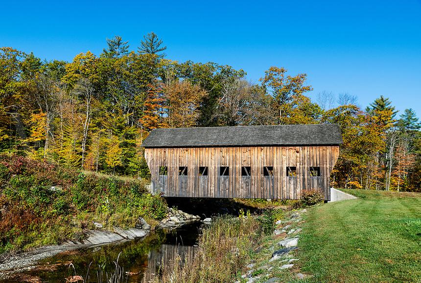 Rustic covered bridge, Reading, Vermont, USA.
