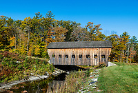Rustic covered bridge, Reading, Vermont, USA.