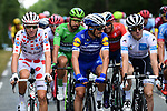 Julian Alaphilippe (FRA) Deceuninck-Quick Step and Polka Dot Jersey winner Romain Bardet (FRA) AG2R La Mondiale at the start of Stage 21 of the 2019 Tour de France running 128km from Rambouillet to Paris Champs-Elysees, France. 28th July 2019.<br /> Picture: ASO/Alex Broadway | Cyclefile<br /> All photos usage must carry mandatory copyright credit (© Cyclefile | ASO/Alex Broadway)