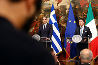 Kyriakos Mitsotakis and Giuseppe Conte<br /> Rome November 26th 2019. Bilateral meeting between the Italian Prime Minister and the Prime Minister of Greece.<br /> Foto Samantha Zucchi Insidefoto