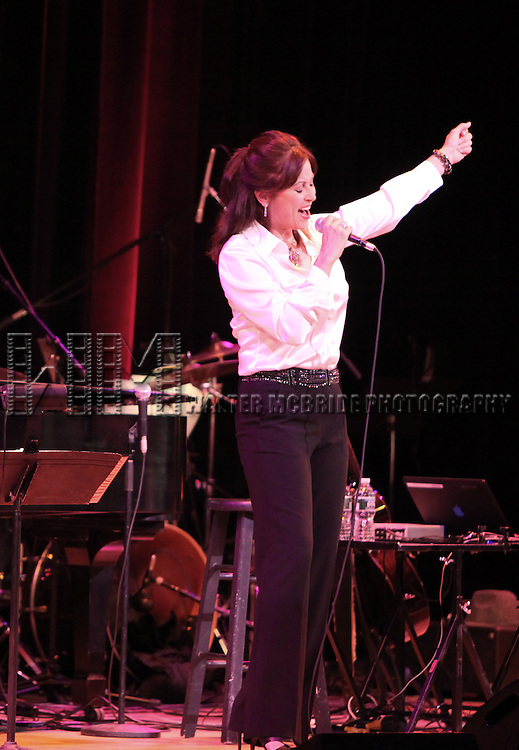 Linda Eder performing 'An Evening with Linda Eder' at Town Hall in New York City.