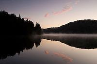 Dawn on Proscansko lake near Ljeskovac village, Upper Lakes, Plitvice National Park, Croatia