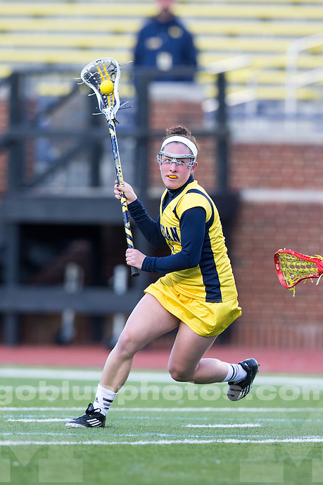 The University of Michigan women's lacrosse team falls to Ohio State, 18-3, at Michigan Stadium in Ann Arbor, Mich. on April 2, 2014.