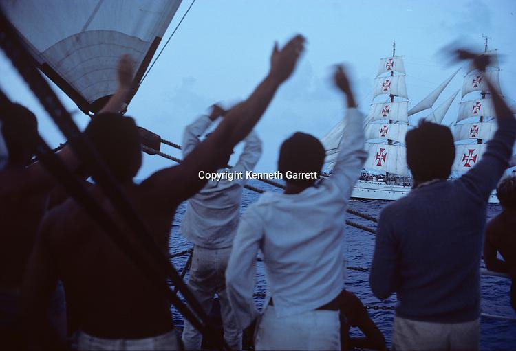 1976; adventure; Atlantic Ocean; cadet training; Dar Pormorza; Operation Sail Tall Ships; Sail race; Sail Training Association; Seamanship; Square Rigger; STA; US Bicentennial