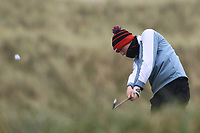 Mark Duggan (Highfield) on the 13th tee during Round 2 of the Ulster Boys Championship at Portrush Golf Club, Portrush, Co. Antrim on the Valley course on Wednesday 31st Oct 2018.<br /> Picture:  Thos Caffrey / www.golffile.ie<br /> <br /> All photo usage must carry mandatory copyright credit (&copy; Golffile | Thos Caffrey)