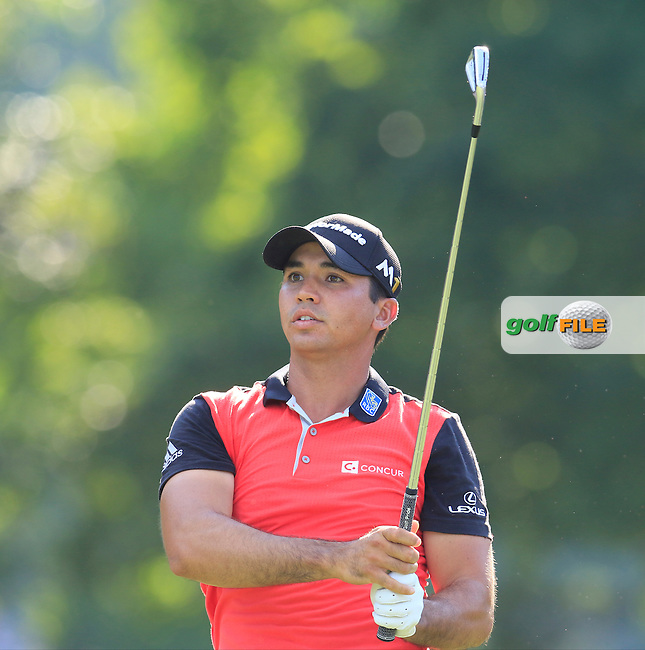 Jason Day (AUS) tees off the 12th tee during Friday's Round 2 of the 2016 PGA Championship held at Baltusrol Golf Club, Springfield, New Jersey, USA. 29th July 2016.<br /> Picture: Eoin Clarke | Golffile<br /> <br /> <br /> All photos usage must carry mandatory copyright credit (&copy; Golffile | Eoin Clarke)