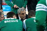 Panathinaikos Athens's coach Argiris Pedoulakis during Euroleague match.January 10,2014. (ALTERPHOTOS/Mikel)