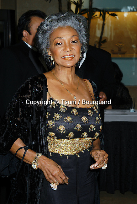 Nichelle Nichols arriving at the Golden Eagle Awards at the Beverly Hilton in Los Angeles. July 26, 2002.           -            NicholsNichelle01.jpg