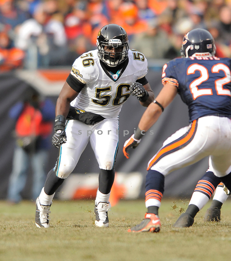 JUSTIN DURANT, of the  Jacksonville Jaguars, in action against the Chicago Bears, during the  Jaguars, game  in Chicago, IL  on December, 7 2008..Bears win 23-10