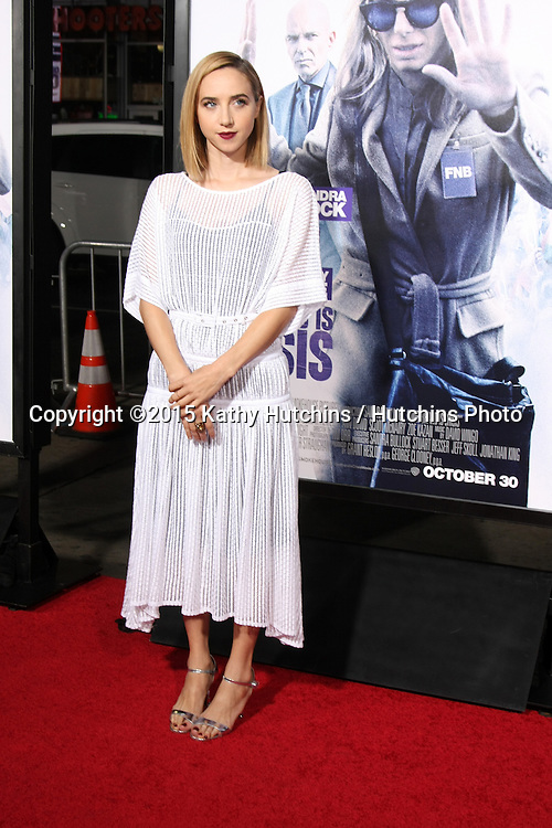 "LOS ANGELES - OCT 26:  Zoe Kazan at the ""Our Brand is Crisis"" LA Premiere at the TCL Chinese Theater on October 26, 2015 in Los Angeles, CA"