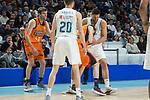 Real Madrid Jaycee Carroll and Felipe Reyes and Valencia Basket Aaron Doornekamp and Rafa Martinez during Liga Endesa match between Real Madrid and Valencia Basket at Wizink Center in Madrid , Spain. March 25, 2018. (ALTERPHOTOS/Borja B.Hojas)