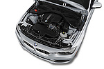 Car Stock 2016 BMW 3 Series 328i 4 Door Sedan Engine  high angle detail view