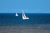 Sailboats in Northumberland Strait