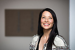 "© Joel Goodman - 07973 332324 . FILE PICTURE DATED 17/05/2013 . The Popular Institute , Manchester , UK . American actress and model LUCY LIU at a preview of her art exhibition , "" Totem "" which is open to the public from this Tuesday (21st May) until June 22nd . Her work features a series of hand stitched linen canvases and sculptures which , she says , explores the fragility of the human form through a recurring theme of the human spine . Liu said she chose Manchester as she likes its "" underground "" cultural scene and that "" people can get a bit jaded with the whole London scene "" . The exhibited works are for sale for between £8,000 and £16,000 with all profits going to UNICEF . Photo credit : Joel Goodman"