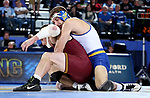 BROOKINGS, SD - NOVEMBER 17: Luke Zilverberg from South Dakota State controls Jake Short from the University of Minnesota during their 157 pound match Friday evening at First Arena in Brookings, SD.  (Photo by Dave Eggen/Inertia)