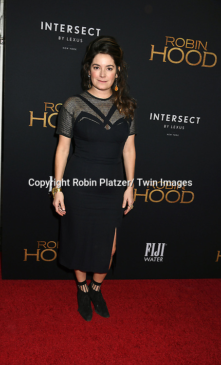 "actor Jamie Neumann attends the New York Special Screening of ""Robin Hood"" on November 11, 2018 at AMC Lincoln Square in New York, New York, USA.<br /> <br /> photo by Robin Platzer/Twin Images<br />  <br /> phone number 212-935-0770"