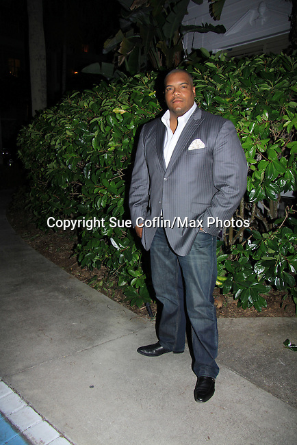 One Life To Live Sean Ringgold at SoapFest's Celebrity Weekend -  A Night of Stars - a VIP event with dinner, autographs, photos, silent and live auction on November 10, 2012 at Bistro Soleil at Old Historic Marco Inn (Photo by Sue Coflin/Max Photos)