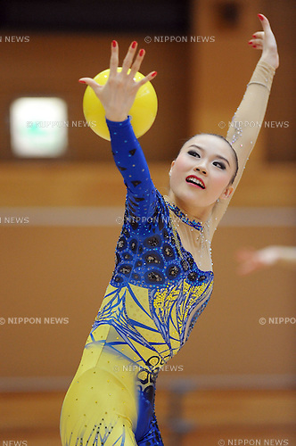 """Yuka Endo, MARCH 23, 2012 - Rhythmic Gymnastics : Japanese Rhythmic Gymnastics Team """"FAIRY JAPAN POLA"""" open the practice for press at Japan Sports Institute of Science in Itabashi, Japan. (Photo by Atsushi Tomura /AFLO SPORT) [1035]"""