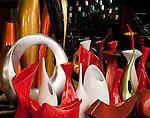 Lacquerware Vases - Lacquerware vases in a shop in Hang Trong St, Hanoi Old Quarter, Vietnam
