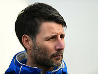 Lincoln City manager Danny Cowley speaks to the media ahead of the game<br /> <br /> Photographer Chris Vaughan/CameraSport<br /> <br /> The EFL Sky Bet League Two - Lincoln City v Notts County - Saturday 13th January 2018 - Sincil Bank - Lincoln<br /> <br /> World Copyright &copy; 2018 CameraSport. All rights reserved. 43 Linden Ave. Countesthorpe. Leicester. England. LE8 5PG - Tel: +44 (0) 116 277 4147 - admin@camerasport.com - www.camerasport.com