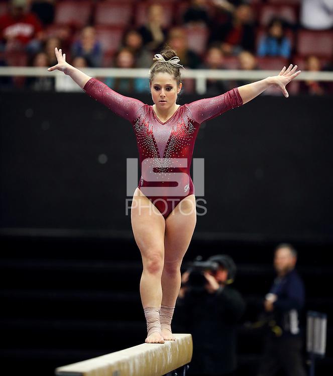 STANFORD, CA; February 5, 2017; Women's Gymnastics, Stanford vs Washington.
