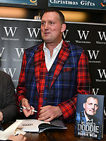 Doddie Weir, Scottish former Rugby Union player signs copies of his autobiography, My Name'5 Doddie, at Waterstones Leadenhall Market, London, UK on 30 November 2018.<br /> CAP/JOR<br /> &copy;JOR/Capital Pictures