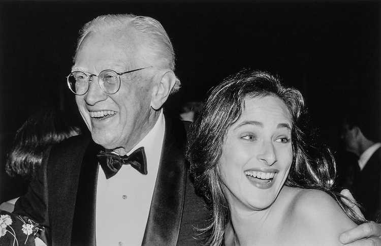 """A Nite to Unite"". ""Sen. Howard Metzenbaum, D-Ohio with Marlee Matlin in June, 1989. (Photo by Laura Patterson/CQ Roll Call)"