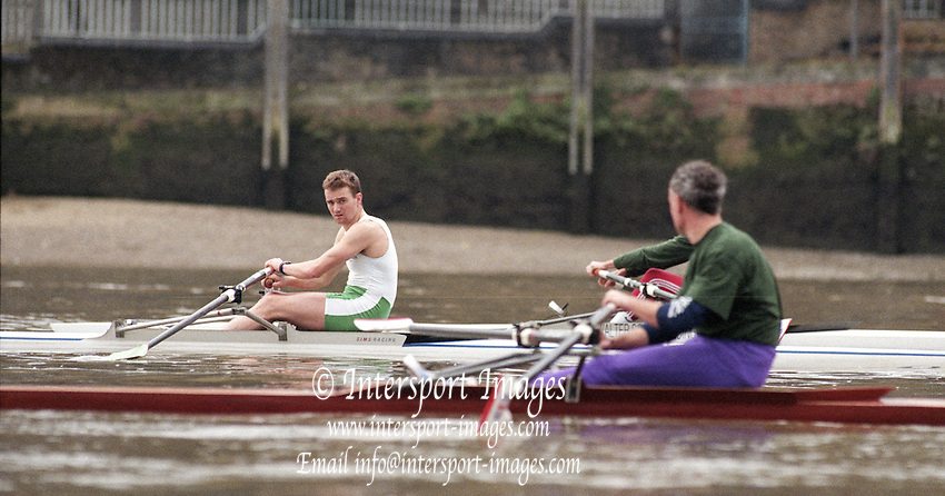 Putney. London. GREAT BRITAIN;  IRL LM1X. Niall O&quot;TOOLE.<br /> <br /> 1995 Thames World Sculling Championships, Putney to Mortlake. Championship Course, River Thames.<br /> <br /> [Mandatory Credit; &quot;Photo, Peter Spurrier/Intersport-images]