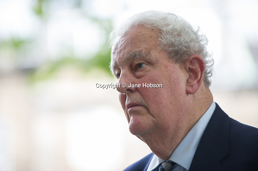 Edinburgh, UK. 21.08.2013. Tam Dalyell, Edinburgh International Book Festival. Photograph © Jane Hobson.