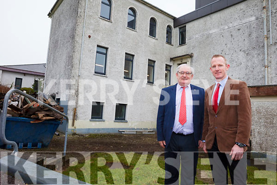 Principal Johnny Mulvihill and Deputy Principal Liam Hassett from St Michael's College in Listowel are delighted the school has received €84,000 for emergency work after one of the buildings flooded over the Christmas period.