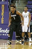 SEATTLE, WA - DECEMBER 11:  Nevada's LeLand King Li against Washington.  Nevada defeated Washington 87-85 at Alaska Airlines Arena in Seattle, WA.