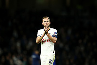 26th November 2019; Tottenham Hotspur Stadium, London, England; UEFA Champions League Football, Tottenham Hotspur versus Olympiacos; Harry Kane of Tottenham Hotspur thanks the fans for their support after the 4-2 win