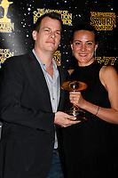 LOS ANGELES - JUN 28:  Jonathan Nolan, Lisa Joy at the 43rd Annual Saturn Awards - Press Room at the The Castawa on June 28, 2017 in Burbank, CA