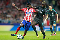 Atletico de Madrid's Thomas Partey (l) and Chelsea FC's Tiemoue Bakayoko during Champions League 2017/2018, Group C, match 2. September 27,2017. (ALTERPHOTOS/Acero)<br /> Champions League 2017/2018 <br /> Atletico Madrid - Chelsea <br /> Foto Alterphotos / Insidefoto