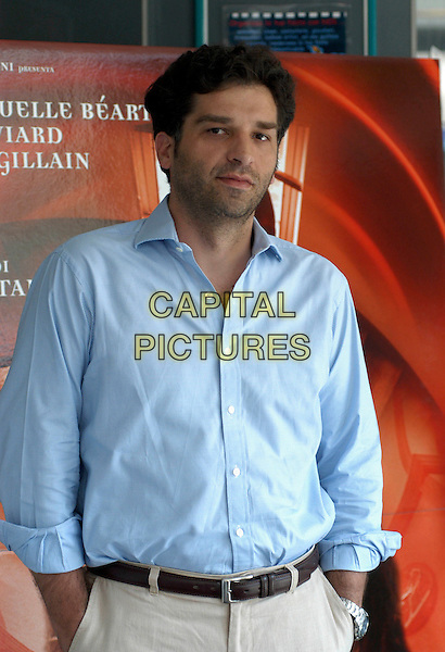 DANIS TANOVIC.Photocall for L'Enfer, Cinema Adriano , Rome, Italy..June 6th, 2006.Ref: CAV.half length blue shirt.www.capitalpictures.com.sales@capitalpictures.com.© Capital Pictures.
