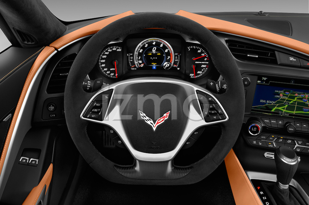 Car pictures of steering wheel view of a 2017 Chevrolet Corvette Grand-Sport-2LT 3 Door Coupe Steering Wheel