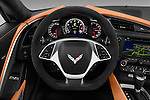 Car pictures of steering wheel view of a 2018 Chevrolet Corvette Grand-Sport-2LT 3 Door Coupe Steering Wheel
